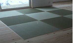 縁なし畳4.5畳間(目積表:半畳の市松敷き)