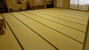 旅館様の大広間の畳工事