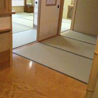 旅館様の畳の表替え工事